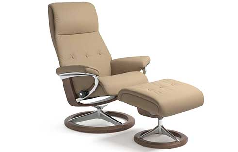 Sky Stressless Chair and Ottoman Signature