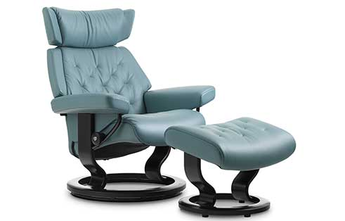 Skyline Stressless Chair and Ottoman