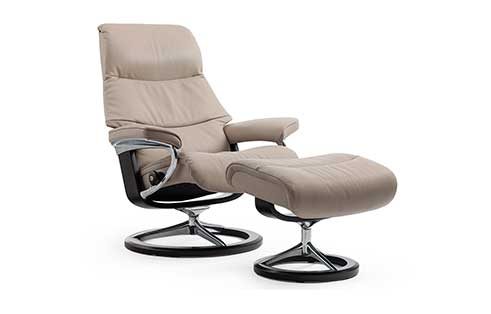 View Stressless Chair and Ottoman Signature