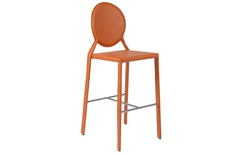 Isabella Counter Stool Orange