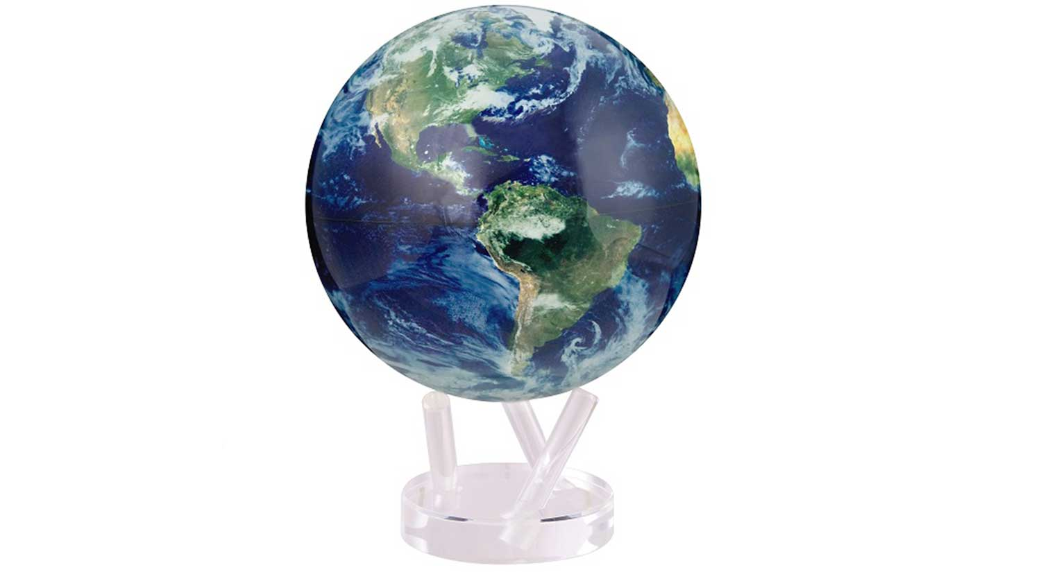 Rotating Satellite Globe