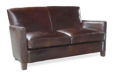 Circle Furniture Trent Leather Loveseat Loveseats
