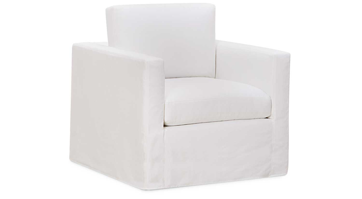 Living Chairs Monica Slipcovered Swivel Glider