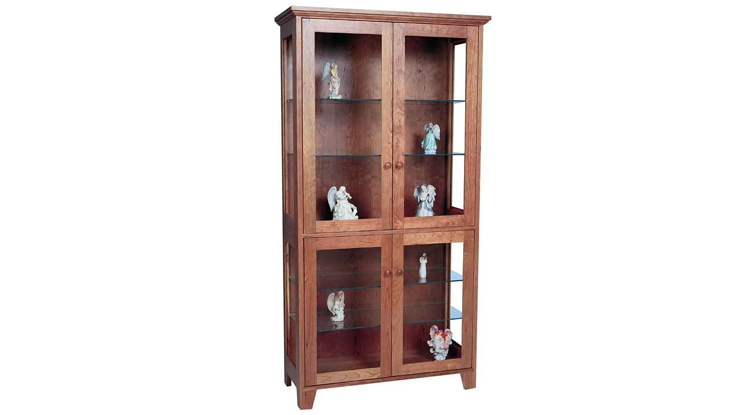 Circle Furniture Sheffield Curio Cabinet Dining Storage Ma