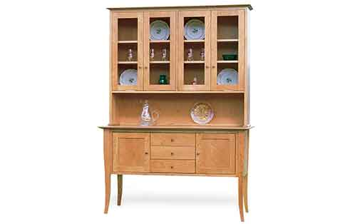 "56"" Flare Leg Buffet and Hutch"
