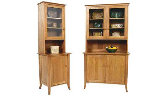 Small Flare Leg Buffet and Hutch