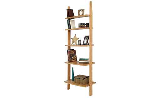 Circle Furniture Ladder Bookcase Wood Bookcases Ma