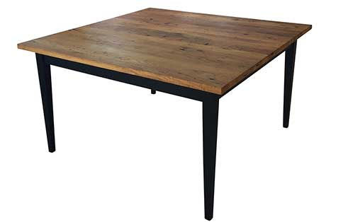 Reclaimed Taper Leg Dining Table