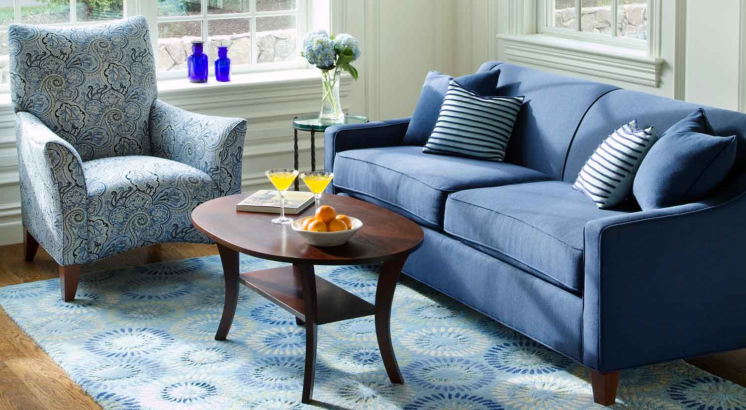 Blue Sofas And Loveseats Navy Blue Gray White Living Room