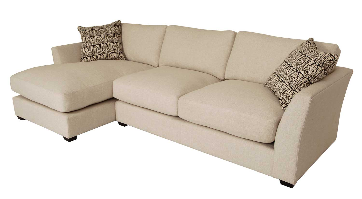 Circle Furniture Liam Sectional Chaise Sofas Comfortable