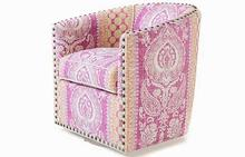 Sally Swivel Chair in Pink