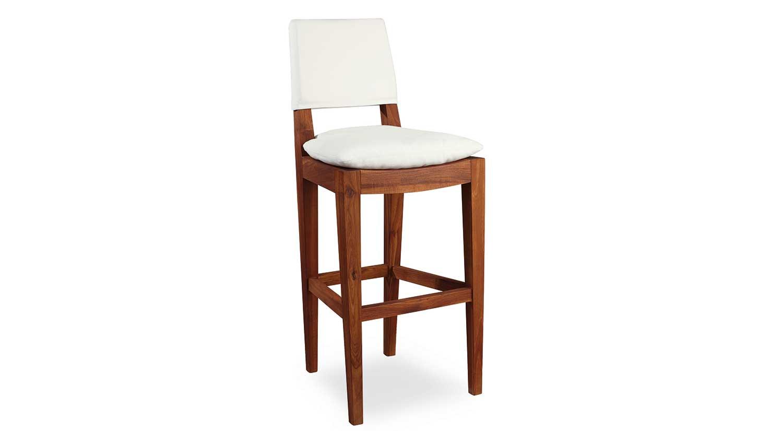 Teak Outdoor Bar Stool ... - Circle Furniture - Teak Outdoor Bar Stool Outdoor Seating Boston