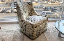 Simon Swivel Chair in Spots
