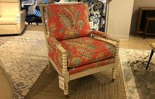 Spool Chair in Coral