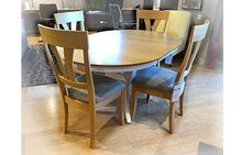 Crescent Table and 4 Chase Chairs