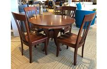 Crescent Dining Table and Cade Dining Chairs