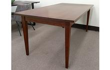 Taper Leg Dining Table in Cherry with Warm Cocoa Stain