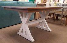 Weston Dining Table in White and Flax