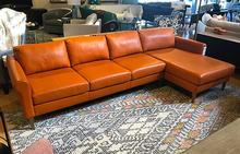 Studio Sectional in Bison Tangerine