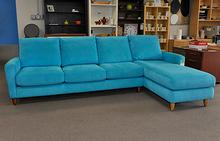 Bennet Sectional in Robins Egg Ultrasuede