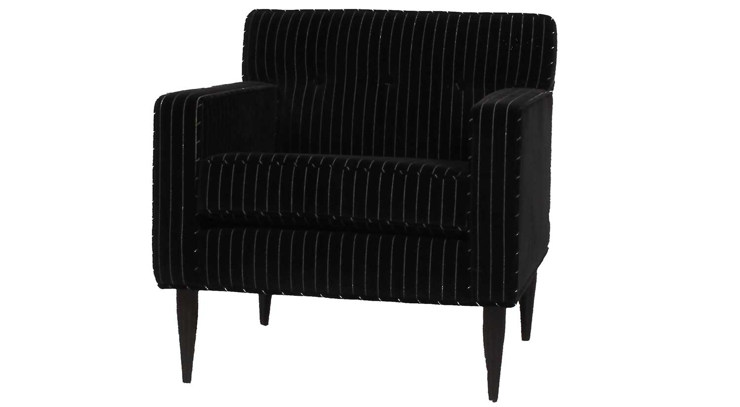 Quincy Chair in Pinstripe