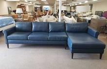 Studio Sectional in Bison Deep Blue
