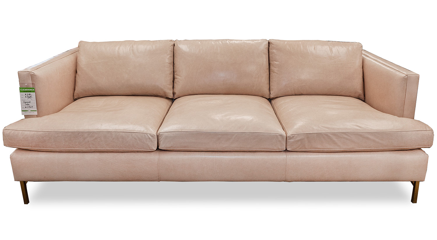 Marvelous Circle Furniture Concord Sofa In Blush Leather Ocoug Best Dining Table And Chair Ideas Images Ocougorg