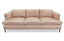Concord Sofa in Blush Leather