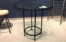 Helios Counter Height Dining Table in Textured Black