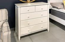 Cottage 5 Drawer Dresser in White