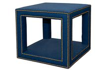 Tempo End Table in Navy