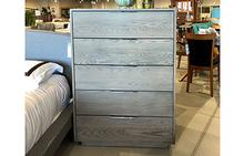Dartmoor 5 Drawer Dresser in Ash Flannel Grey