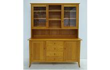Flare Leg Buffet & Hutch in Natural Cherry