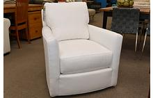Murphey Swivel Chair in Crypton Pendleton Snow