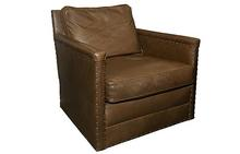Paige Swivel Chair in leather