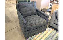Paige Swivel Chair in Dewberry Midnight