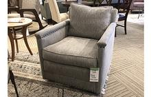 Paige Swivel Chair in Metric Ocean