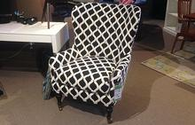 Elaine Chair in Black and White