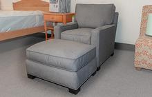 Fritz Chair and Ottoman in Cement