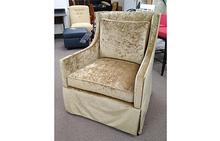 Kate Swivel Chair in Muted Gold