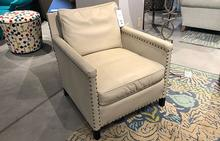 Paige Chair in Ivory Leather