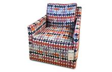 Paige Swivel Chair in Multi