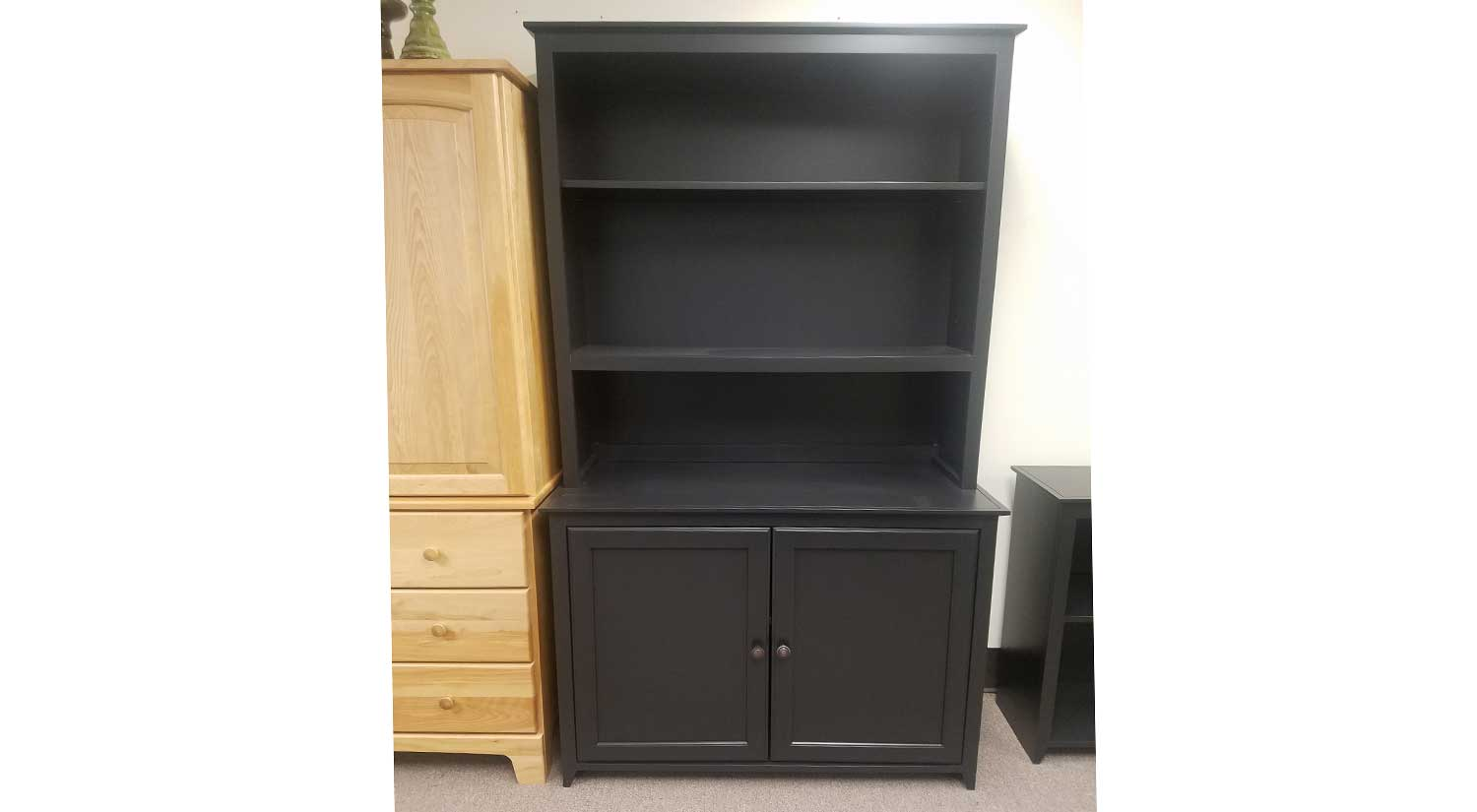 Black Cabinet and Hutch