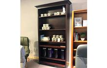 Shaker Bookcase with Crown Finish