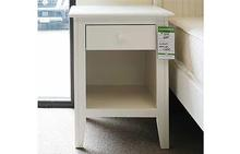 Canterbury 1 Drawer Nightstand in White