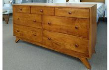Newton 7 Drawer Dresser with Mid-Century Base
