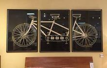 Tandem Bicycle Set of Three