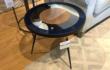 Bullseye Side Table in Blue