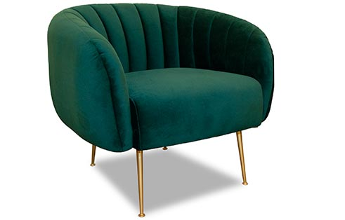 Channeled Chair In Green