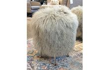Antonia Stool in Sheepskin Grey